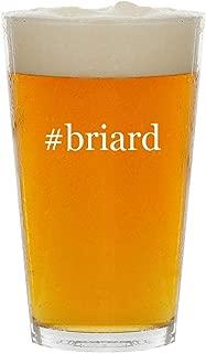 #briard - Glass Hashtag 16oz Beer Pint