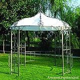 Ersatzdach Pavillon Burma weiss 300cm rund PVC