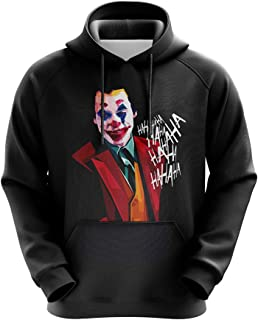 Triumph Boy's Printed Joker Black Hoodies