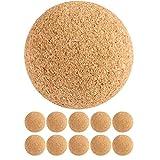 Tuniro® 10 Stück Kicker Bälle aus Kork, leise und griffig, Durchmesser 35mm, Tischfussball Kickerbälle Kicker-Ball
