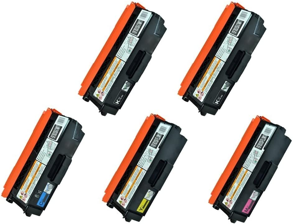 Clearprint Compatible Toner Cartridge Replacement for Brother TN336 TN336BK TN336C TN336M TN336Y High -Yield (2 Black, 1 Cyan, 1 Magenta, 1 Yellow) 5 Pack