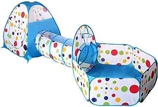 BESPORTBLE 3 st/set barn pop up lek tält kryptunnel och boll grop studs lekstuga tält för pojkar flickor bebisar och småba...