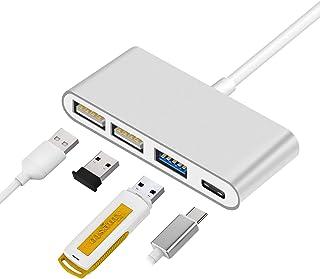 "SING F LTD Type C Hub 4 in 1 Multiport USB 3.0 USB-C Charging Adapter Converter For MacBook Pro 13"" 15"""