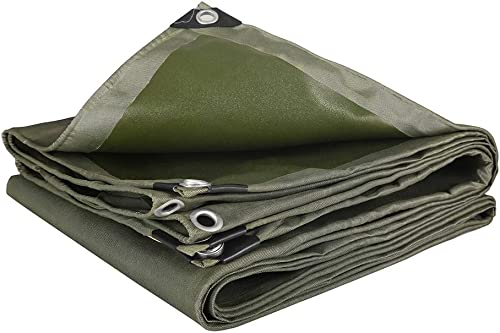 TongN La bache imperméable résistante forte pour l'usage extérieur couvre la feuille au sol vert de camping 600g   m2 (taille   3x4m)