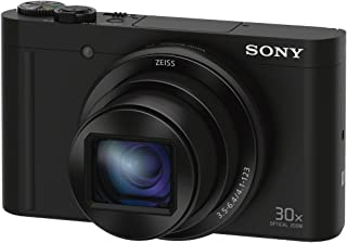 "Sony DSCWX500B 18.2 Digital Camera with 3"" LCD, Black"