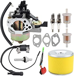 Coolwind GX390 Carburetor with Air Filter Tune Up kit fit Honda GX340 GX360 GX 390 11HP 13HP Engine Generator Lawn Mower Motor Replaces 16100-ZF6-V01