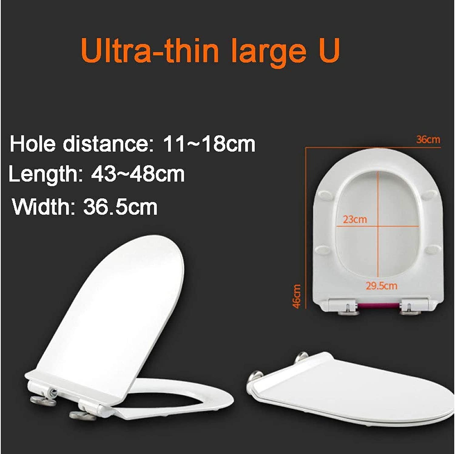 Toilet Lid & Tank Covers Toilet Seat U-Shape Universal Toilet Lid Mute Antibacterial Urea-formaldehyde Top Mounted Toilet Seat With Two Fitting Kits Anti-Bacterial Toilet Seat