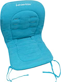 Asunflower Baby High Chair Cushion Pad, Soft Fabric Infant Stroller Seat Cover Pad with Ties