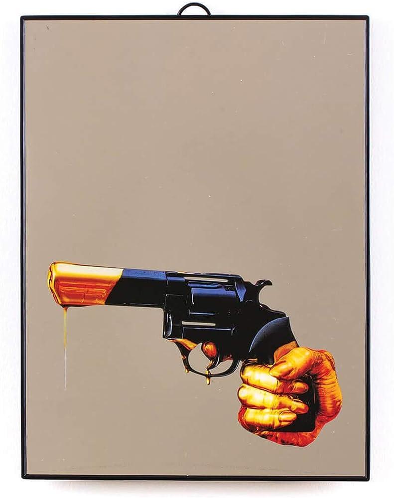 Seletti wears toiletpaper, specchio revolver,in plastica,legno e vetro serigrafato DM13826