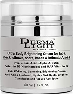 Ultra Body Brightening Cream forface, neck, elbows, scars, knees & Intimate Areas- Derma Light