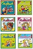 Lutz Mauder - Malbuchset mit 6 Mini-Malbüchern inkl. Stickern