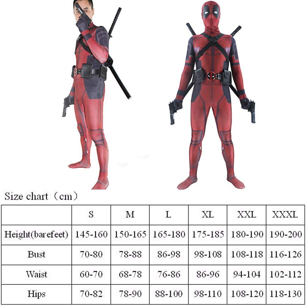 Muswanna87 Disfraz de Deadpool para Adultos y niños, Licra y Licra ...