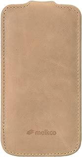 Melkco con Funda de Piel para Samsung Galaxy S4 Mini gti9190/S4 Mini Duos gti9192/S4 Mini LTE GTI9195 - Vintage marrón