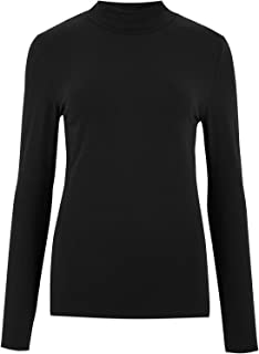 Marks & Spencer Women's Cotton Funnel Neck Fitted Long Sleeve Top
