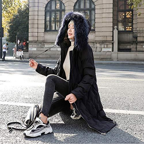 CBXD Doudoune Longue Coton épais Femme Coton Long XXL Noir