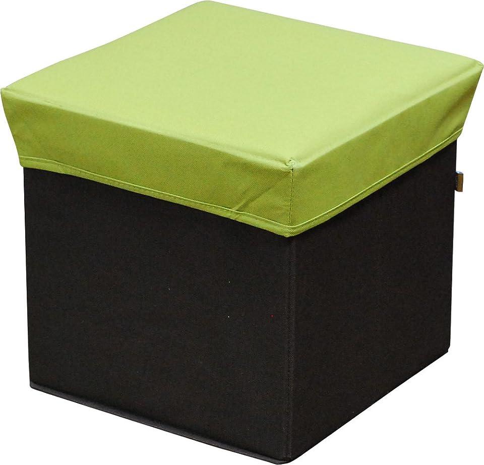 乗算父方の薬を飲む椅子として使える ボックススツール Lサイズ 収納スツール グリーン