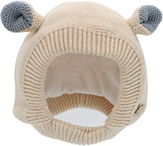 LeafIn 赤ちゃん ニット帽 耳付き ベビー 帽子 子供用 キッズ 耳あて ハット 女の子 男の子 防寒 保温 秋冬 1704