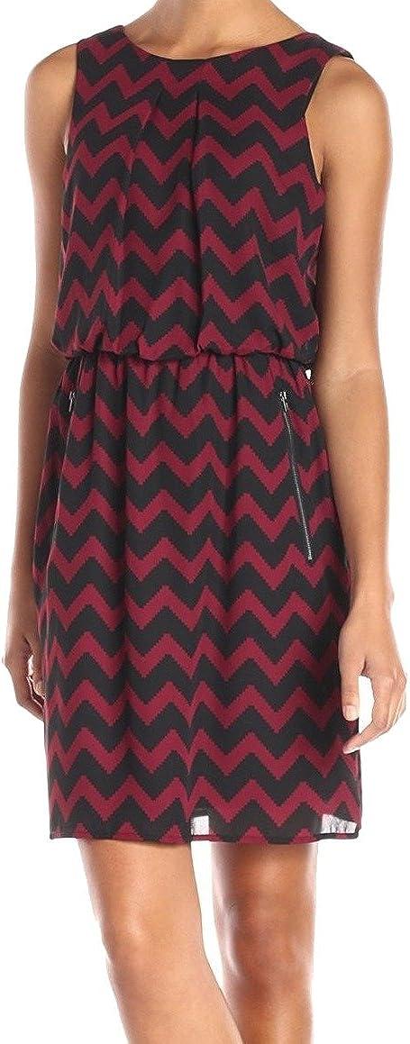 S.L. Fashions Women's Cevron Printed Blouson Dress