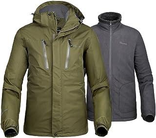 Sponsored Ad - OutdoorMaster Men's 3-in-1 Ski Jacket - Winter Jacket Set with Fleece Liner Jacket & Hooded Waterproof Shel...