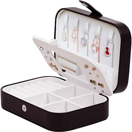 Petit Portable de Voyage Boîte à bijoux avec miroir étui Rangement Organisateur Pour X2Z1