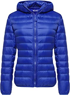Wantdo Women`s Winter Packable Ultra Lightweight Down Coat Warm Short Outwear