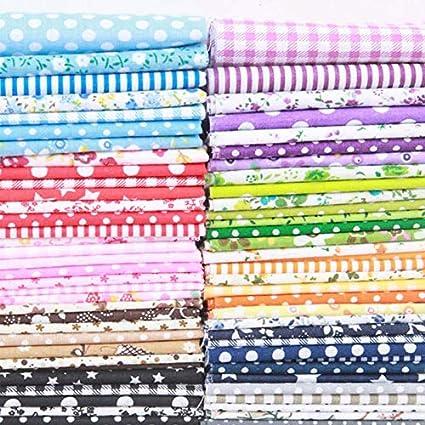 tela de mesa de arroz 25 * 25cm manualidades tela de algod/ón impresa para coser ropa de bricolaje mosaico Dylandy 35 piezas de tela de algod/ón de retazos de tejido liso floral