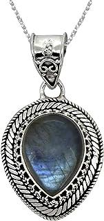 YoTreasure 925-Sterling Sterling-Silver pear-Shape Labradorite