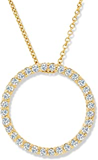 14K Yellow Gold 1/2ct Circle Of Life Diamond Pendant