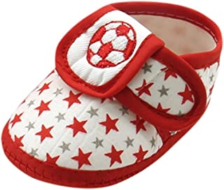 Voberry Voberry Baby-Girl's Newborn Star Print Soft Sole Prewalker Warm Flats Shoes
