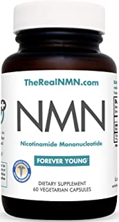 NAD+ Boosting Super Supplement - 125mg NMN Nicotinamide Mononucleotide The Real, Clinically Proven NMN - Superior to NR | DNA Repair | Sirtuin Activation | Natural Energy & Forever Young - 60 Pills