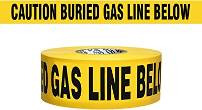 Presco Underground Non-Detectable Warning Tape: 3 in. x 333.3 yds. (Yellow with Black