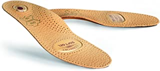 Premium Orthotic Leather Shoe Insoles Inserts With Arch Support And Gel Cushion For Men And Women, Kaps Relax Gel