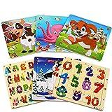 StillCool Jigsaw Puzzle di Legno Animal Puzzle 20 Pezzi Giocattoli didattici educativi per Bambini in età Compresa tra 3 e 5 Anni (6 Puzzle)
