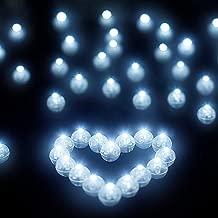 Libershine 100 piezas Mini LED Bombillas Luz Blanco cálido, sin-parpadear para Iluminación en Globos y Celebración banquete de boda de la Cumpleaños Fiesta de Decoración (Luz Blanca)