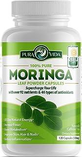 Organic Moringa Oleifera Powder Capsules: Energy, Metabolism, and Immune Booster. Natural Anti-Inflammatory...