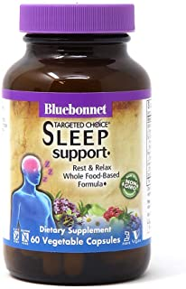 Bluebonnet Nutrition Targeted Choice Sleep Support, Rest & Relaxation Whole Food-Based Formula, Sleeplessness, Soy-Free, G...