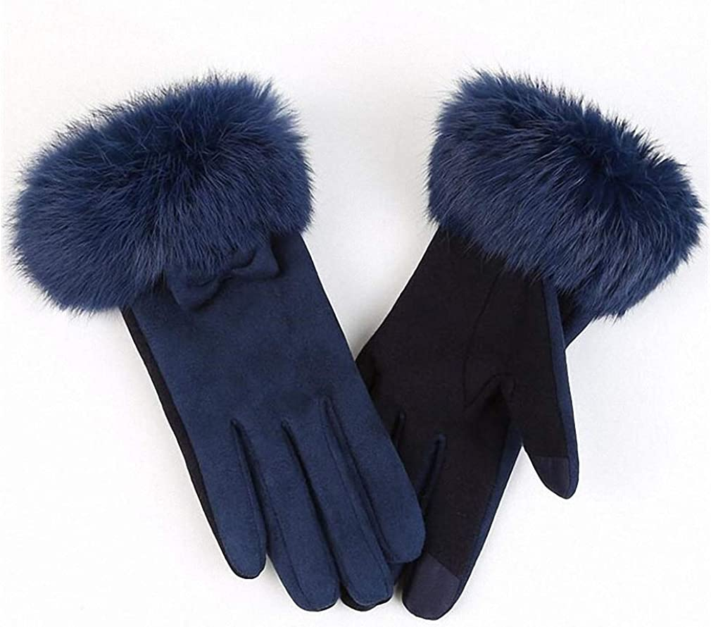 Womens Gloves Fashion Suede Elegant Women Gloves Winter Warm Driving Soft Wrist Bow Gloves Female Mittens Guantes Mujer