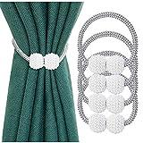 Embrasses à Rideaux KDWLL, Attaches de Rideau Perles (Perles), Boucles pour Rideaux, Accessoires pour Rideaux et Stores, pour la Maison Bureau Restaurant Décoration (Paquet de 4)
