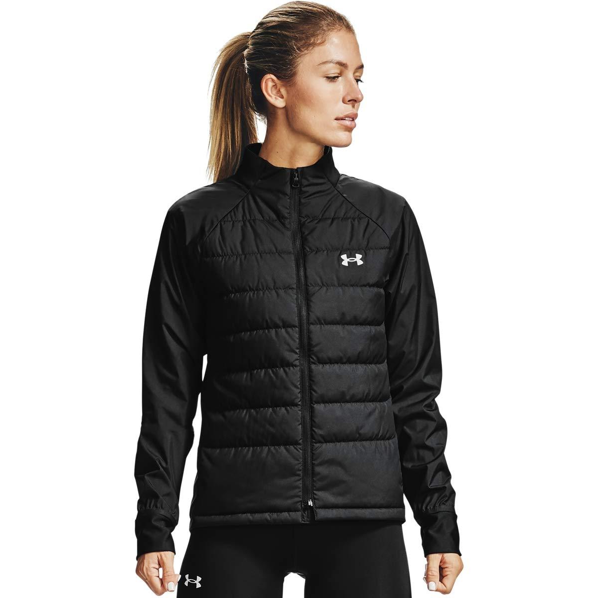 Under Armour Damen Run Insulate Hybrid Jacke, Black / / Reflective (001), XS