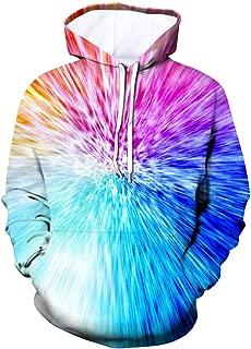 Unisex 3D Print Hoodies Graphic Space Pullover Hooded Sweatshirts for Men Women