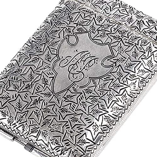 YuKeShop Cierre ligero del tirón de los cigarrillos de la caja del tenedor de la aleación del metal de la caja del cigarrillo de la