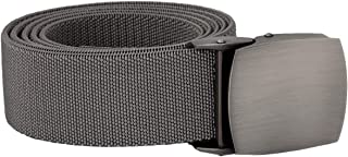 """Samtree Elastic Belts for Men, Casual Tactical Duty Web Belt with Flat Top Buckle 50"""" Length"""