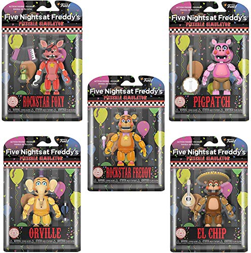 Funko Five Nights at Freddys Pizza Simulator Glow-in-The-Dark Articulated Action Figures (Set of 5)
