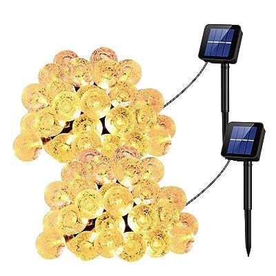 UMANOR Globe Solar String Lights, 8 Modes 30 LE...