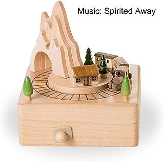 Pumpkin-Kaariage Musical Boxes Wooden Carousel Music Box Crafts Birthday Gift for Children Girl Friend Home Decor Handmade Wood Craft,Small Train
