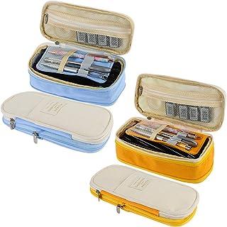 falllea 2 Piezas de Estuche Escolar Gran Capacidad Estuche de Lápices Caja de Lápiz Portable Bolsa de Lápiz Gran Capacidad...