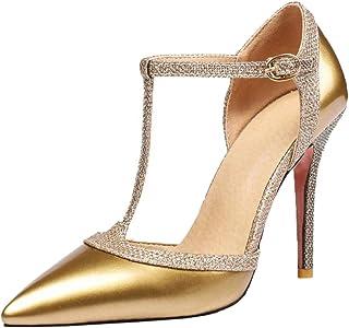 0c88b20b87e7a AicciAizzi Women Fashion Stiletto T Strap Sandals