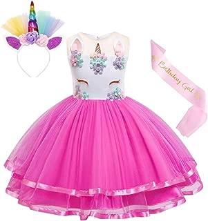 Unicorn Costume Dress Girls Pageant Party Dresses Evening Gowns Halloween Tutu Dress