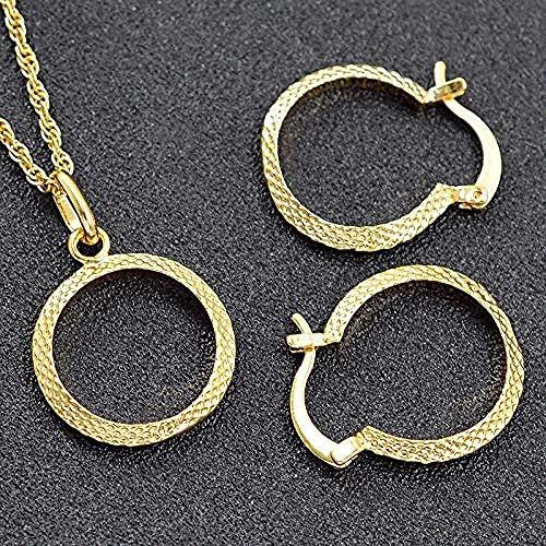 WYDSFWL Conjunto de joyería de Collar, joyería Grande para Mujer, Collar, Pendientes, Colgante, joyería geométrica para el Jubileo, Longitud del Collar, Collar de 45 cm, Regalo