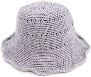 ZiWen Lu Spring and Summer New Korean Version of Cotton and Linen Sunshade Sun hat Female Folding Sun hat Simple Fashion Basin hat Fisherman hat (Color : Grey, Size : 56-58cm)